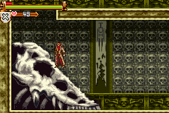 Castlevania HOD - Revenge of the Findesiecle - Crocomire skull from metroid. - User Screenshot